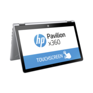 "HP Pavilion x360 15-BR008NH, 15.6"" HD AG Intel Pentium 4415U, 4GB, 1TB, Intel HD610, Természetes ezüst, WIN10, 3 év gar."