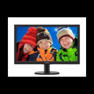 """Philips monitor 23.6"""" - 243V5LHAB5/00 1920x1080, 16:9, 250 cd/m2, 1ms, VGA, DVI, HDMI, hangszóró"""