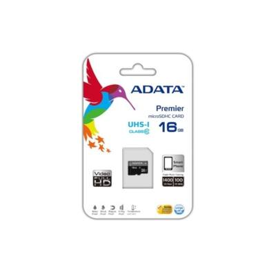 ADATA Memóriakártya MicroSDHC 16GB UHS-I Class 10