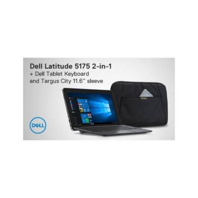 """DELL Latitude 5175 10.8""""FHD Touch, Core m3-6Y30 (2.20GHz),4GB,128GB SSD,4G/LTE,Win 10 Pro + szitázott HUN klavi+ táska"""