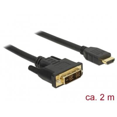 DELOCK kábel DVI 18+1 male to HDMI male, 2m