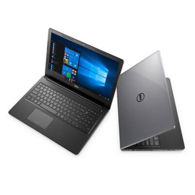 "Dell Inspiron 3567 15.6"" FHD, Intel Core i3-7020U (2.3 GHz), 4GB, 1TB, Win 10, szürke"