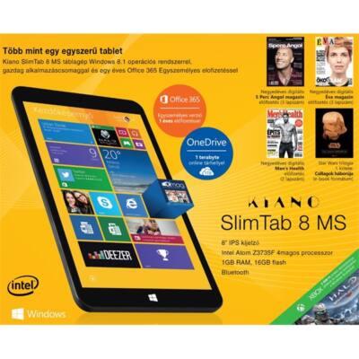 """KIANO SlimTab 8 MS BUNDLE TABLET PC 8"""" 1280x800 IPS, Quad-Core 1,3 GHz Intel Atom Z3735F 1,3 GHz, 1GB RAM, 16GB flash, W"""