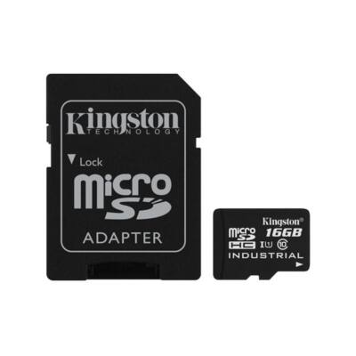 KINGSTON Memóriakártya MicroSDHC 16GB CLASS 10 UHS-I Industrial Temp + Adapter