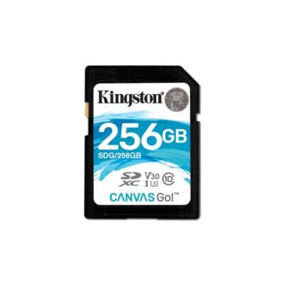 KINGSTON Memóriakártya SDXC 256GB CL10 U3 V30 Canvas Go (90/45)