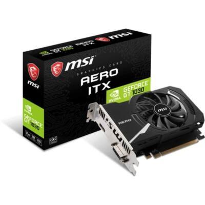 MSI Videokártya PCI-Ex16x nVIDIA GT 1030 AERO ITX OC 2GB DDR4