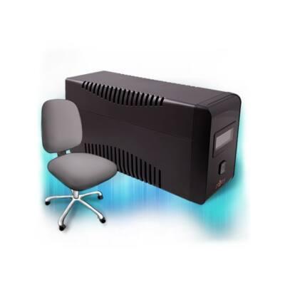 NJOY UPS ISIS 650L, 650VA, 360W, Line-Interactice, Szünetmentes tápegység, LCD display