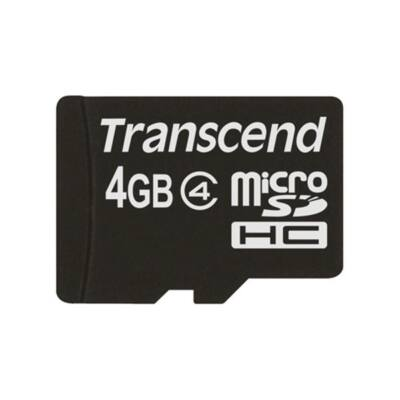 Transcend Memóriakártya MicroSDHC 4GB CLASS 4