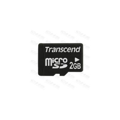 Transcend Memóriakártya MicroSD 2GB + adapter