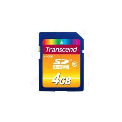 Transcend Memóriakártya SDHC 4GB CLASS 10