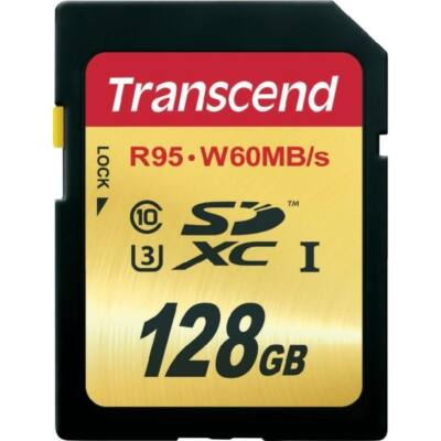 Transcend Memóriakártya SDXC 128GB UHS-I U3